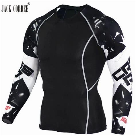 Kaos Sleeve Motorcycle kaos olahraga ketat pria crossfit mma compression shirt