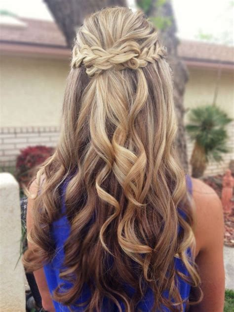 prom hairstyles curls down curly prom hairstyles half up half down prom hairstyles