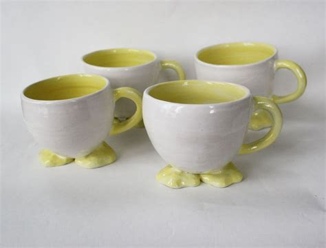 animal shaped mugs hand crafted animal shaped mugs by sara e lynch