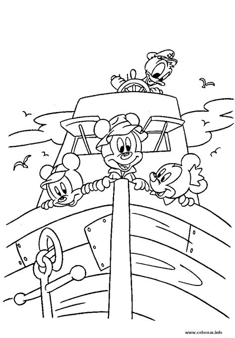 disney group coloring page ni 241 os en un barco groups disney printable coloring pages