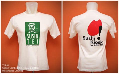 Sablon Kaos Nama sablon kaos sushi tei sablon kaos supplier kaos sablon
