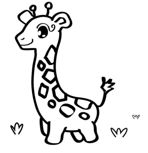 preschool baby animals coloring pages cute giraffe coloring sheet print these soon