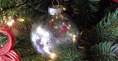 mercury glass christmas tree ornaments  sisters