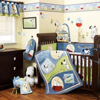 Baby Supermall Crib Bedding My Baby Boy S Nursery Exactly What I Want I Snoopy So It D Be Awesome Baby