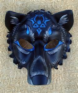 Wolf Mask Custom Black Wolf Mask By Merimask On Deviantart