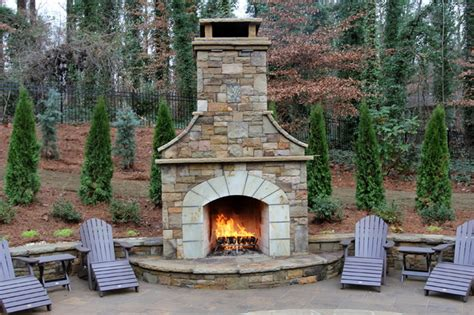 Outdoor Fireplace Costs by Price Pool And Outdoor Living Space Traditional Patio