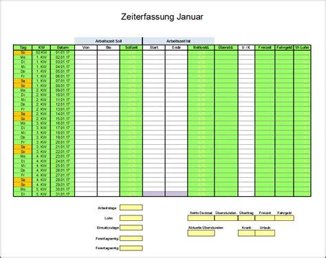 Kostenlose Vorlage Arbeitszeiterfassung Stundenzettel Vorlage Der