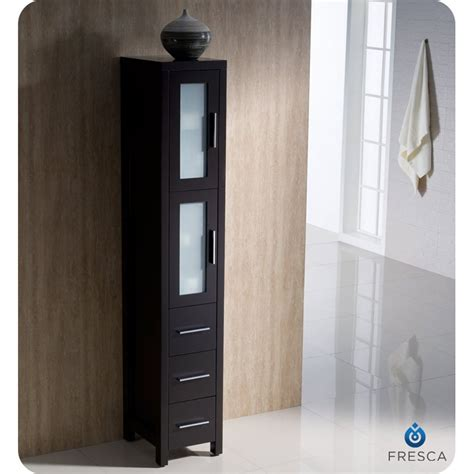 Bathroom Side Cabinet Fresca Torino 36 Quot Espresso Modern Bathroom Vanity With Side Cabinet
