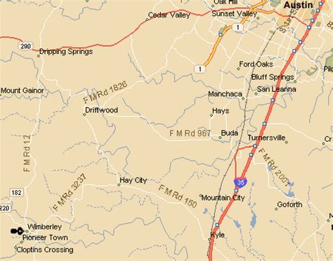 wimberly texas map map to wimberley texas
