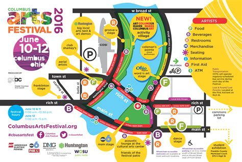 festival directions festival map columbus arts festival columbus ohio