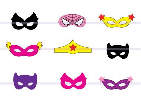 supergirl mask template instand dl 9 masks cutout birthday by