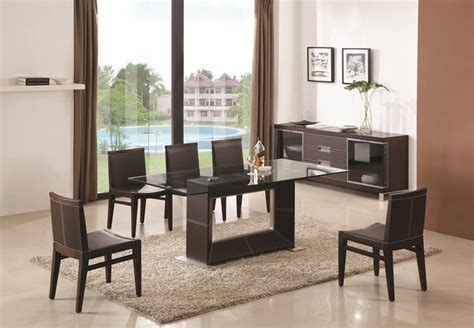 contemporary glass dining room tables contemporary wooden and clear glass top leather dining