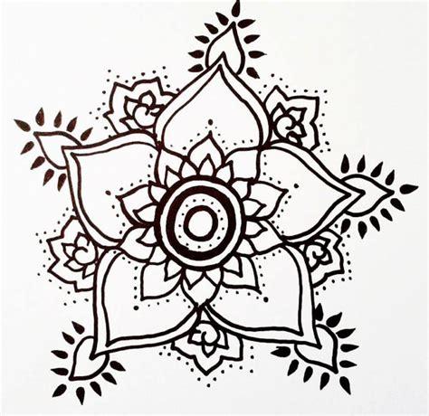 floral t 228 towierung henna stil hand gezeichnet