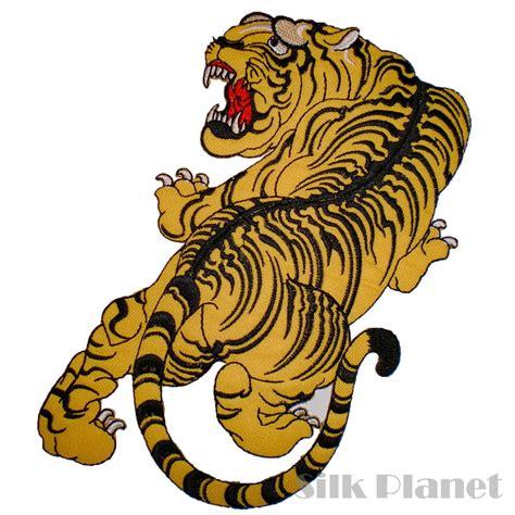 japanese tattoo vest 8 quot tiger japanese tattoo biker chopper jacket vest back
