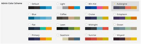 good color schemes how to change and add more color schemes to wordpress