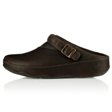 clogs for uk fitflop fitflop gogh mens leather clogs chocolate brown