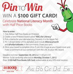 Half Price Gift Cards - abcs for literacy on pinterest 27 pins