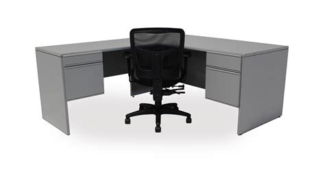 grey office desk rooms