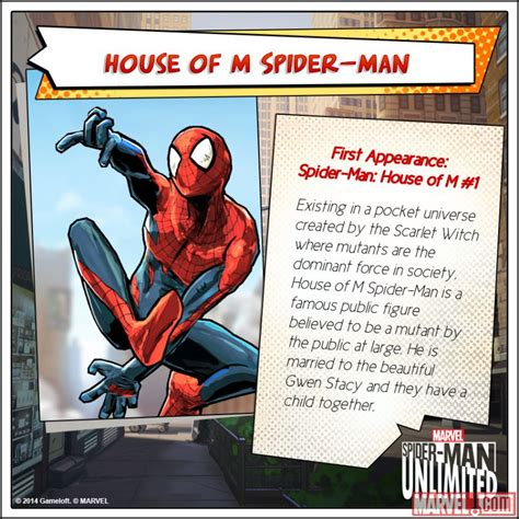 Marvel House Of M house of m spider in the spider unlimited mobile marvel