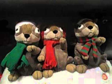 singing chipmunks christmas toys 2015 animated toy youtube