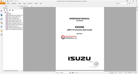 download car manuals pdf free 2006 isuzu i 280 parking system isuzu engine 6wf1 tc commanrail workshop manual auto repair manual forum heavy equipment