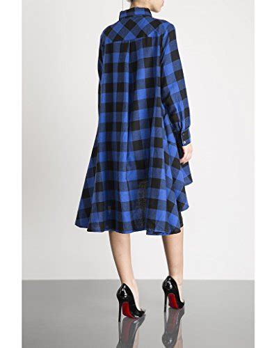 Dress Import Wj734 Xl 1 olrain s irregular hem polo classic plaids casual