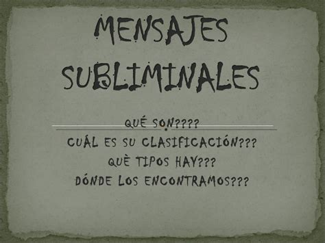 mensajes subliminales tipos mensajes subliminales