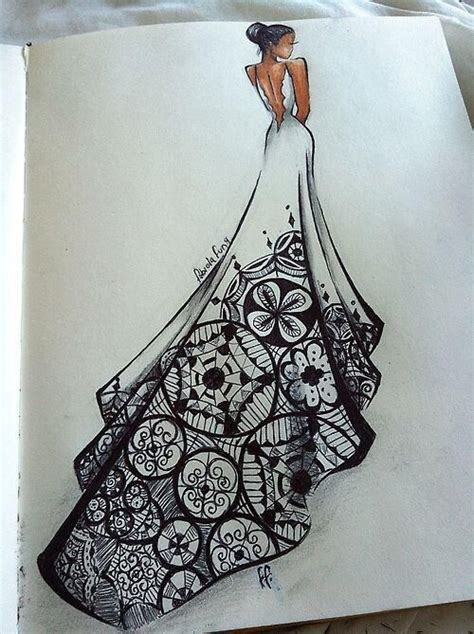 art pattern dress wedding patterns and brides on pinterest
