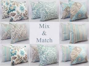 pillow cover blue and brown decorative throw