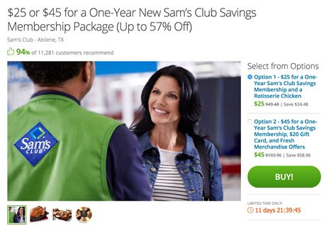 Sam S Club Iphone Gift Card Deal - one year sam s club membership food coupons 25 w email delivery reg 45