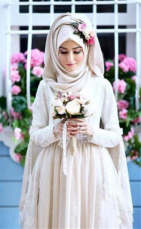 Gaun Dress White Graffiti Flower S Import Original bridal with flowery crown ideas for muslim wedding style