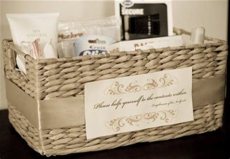 bathroom baskets for wedding reception bathroom baskets for the women s and men s bathroom at