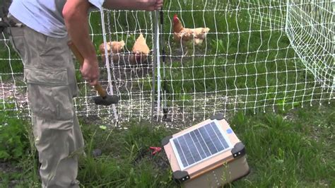 how to install an electric poultry fence