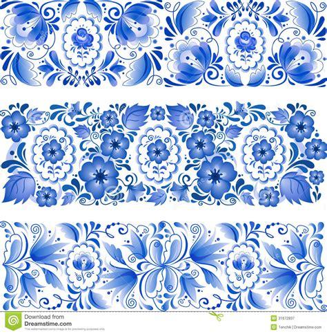 russian pattern vector gzhel pattern russian traditional blue ornament in gzhel
