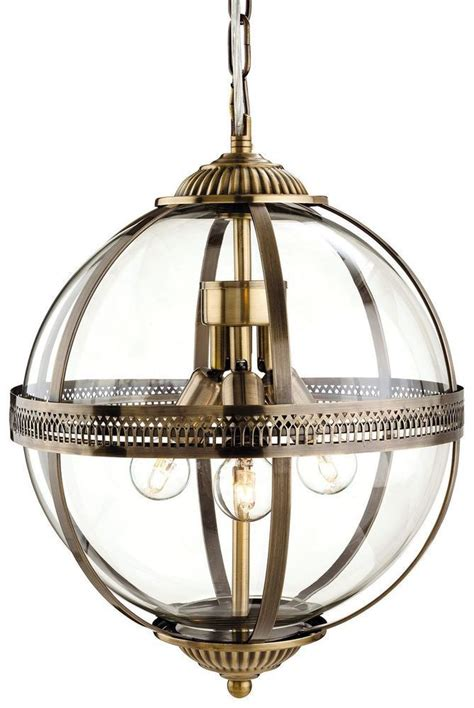 mayfair 3413 antique brass glass globe lantern pendant