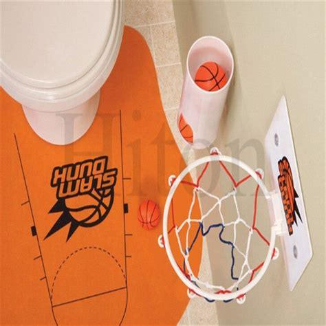 Basketball Bathroom Accessories Slam Dunk Toilet Basketball Bathroom Rug Gadget Prank Gift For Novelty Basketball
