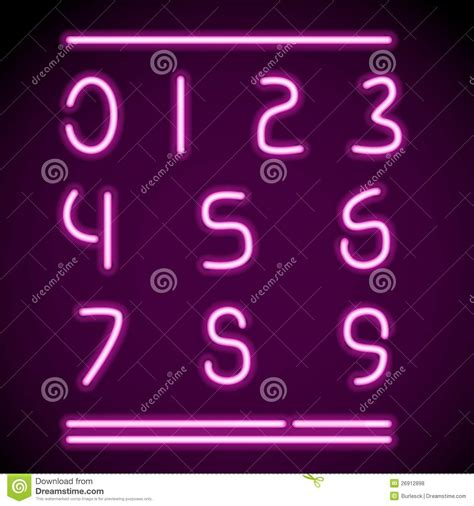 printable neon letters realistic neon alphabet numbers royalty free stock photos
