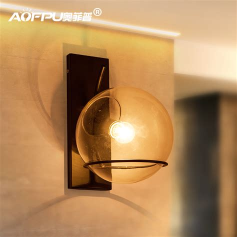 Glass Bedroom Wall Lights Aliexpress Buy Loft Style Clear Glass Wall L