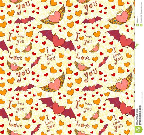 Yellow Devil Pattern | valentine color seamless pattern on yellow grunge royalty