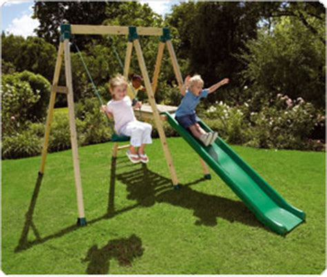 wooden slide and swing set uk tp wooden swing slide combination review compare prices