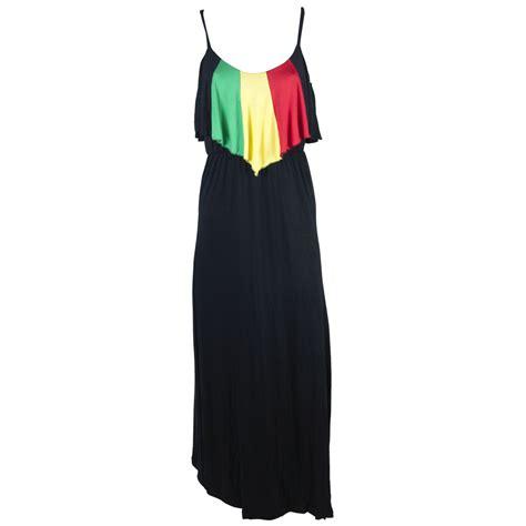 Dress Black Raisya rasta and reggae flounce top dress rastaempire