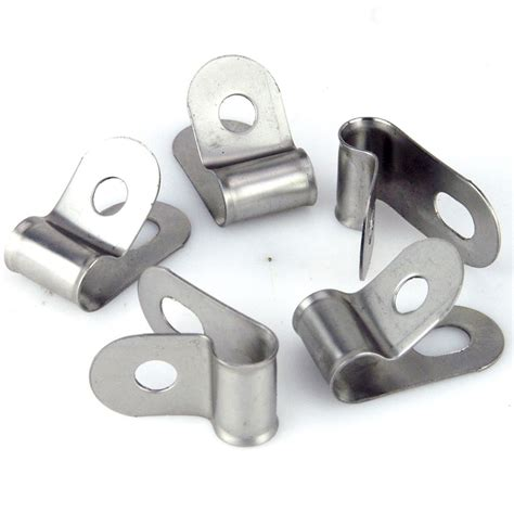 Upholstery Adhesive Vintage Style Unlined Wide Stainless Steel P Clips 8mm