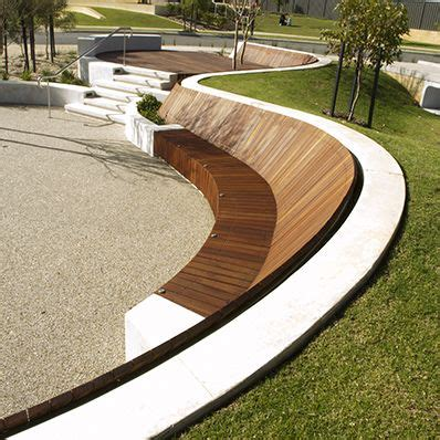 curved bench seat this contemporary curved bench seat in the landscape is so