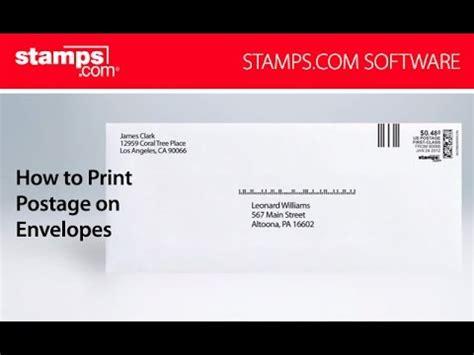 usps envelope printable area sts com how to print usps postage on envelopes youtube