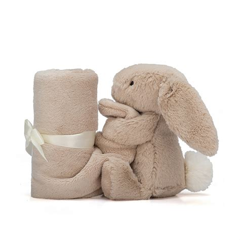 Jellycat Comforter by Jellycat Bashful Beige Bunny Soother Hugs Baby