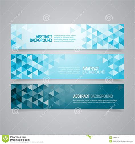 design ad banner free abstract geometric banners stock vector image of magazine