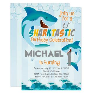 baby shark invitation summer party invitations announcements zazzle