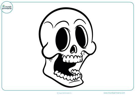 imagenes de calaveras graciosas dibujos de halloween para colorear mundo primaria