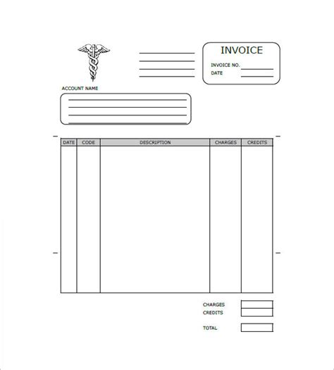 doctor bill template health invoice templates 16 free word excel