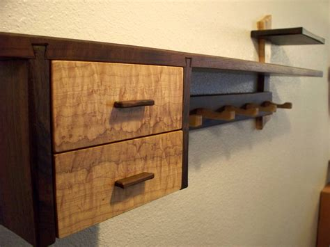 Wall Drawer Shelf by And Vintage Diy Wood Mantel Floating Wall Shelf With Drawer And Hooks For Small And Narrow